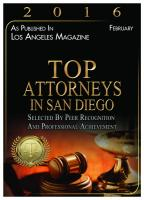 Top Attorneys in San Diego 2016