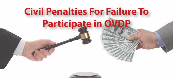 Civil Penalties For Failure to Participate in OVDP