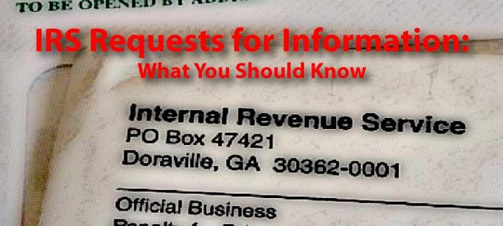 irs request for information