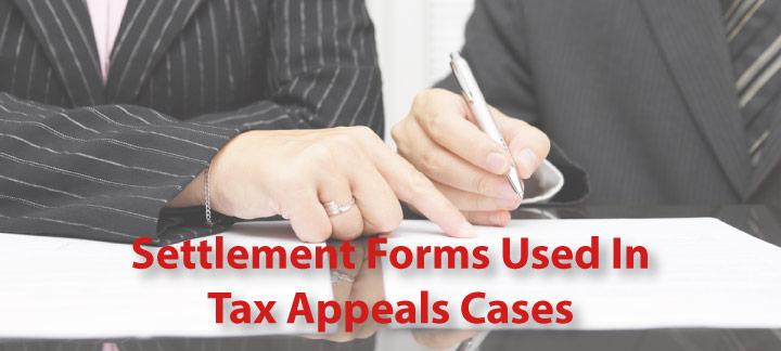 Settlement Agreement Forms For Tax Tax Appeals Cases
