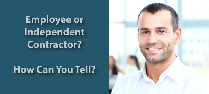 employee or independent contractor for tax purposes